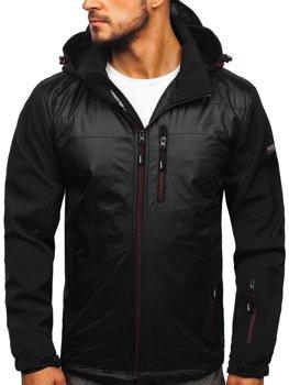 Čierno-červená pánska softshellová bunda Bolf 5680