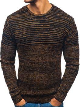 Čierno-hnedý pánsky sveter BOLF 156
