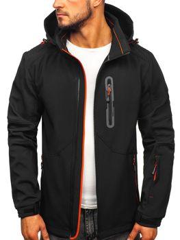 Čierno-oranžová pánska softshellová bunda Bolf 12263