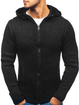 Čierny pánsky sveter BOLF 20008