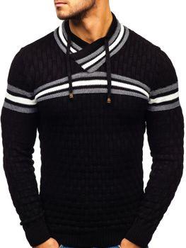 Čierny pánsky sveter BOLF 6006