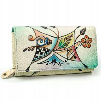 Farebná dámska kožená peňaženka 3095