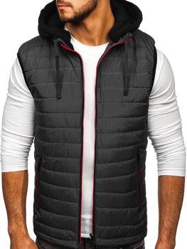 Grafitová pánska vesta s kapucňou Bolf 6102