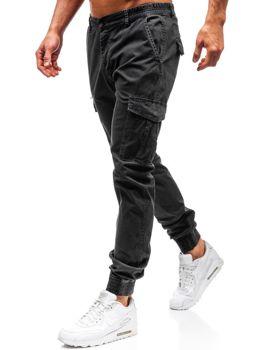 Grafitové pánske kapsáčové joggery BOLF 5399