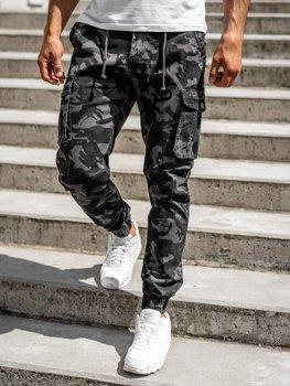 Grafitové pánske kapsáčové joggery Bolf CT6018
