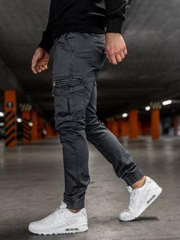 Grafitové pánske kapsáčové joggery Bolf KA528