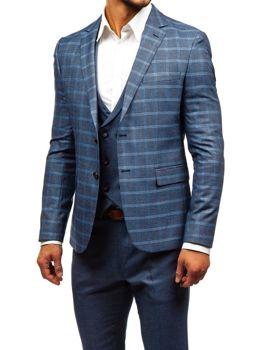Grafitovo-bordový pánsky oblek s vestou BOLF 18300