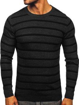 Grafitový pánsky sveter Bolf 4356