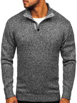 Grafitový pánsky sveter Bolf P086
