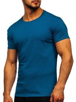 Indigo pánske tričko bez potlače Bolf 2005
