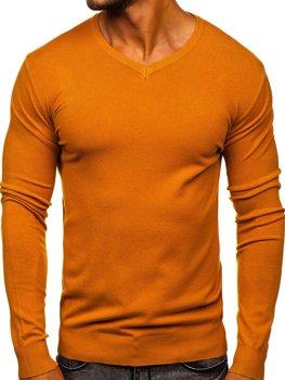 Kamelový pánsky sveter s Včkom Bolf YY03
