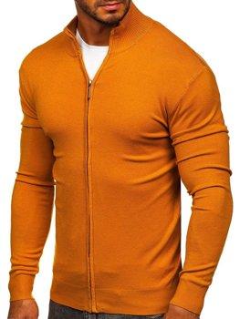 Kamelový pánsky sveter so zapínaním Bolf YY07