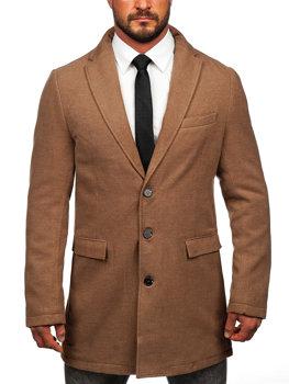 Kamelový pánsky zimný kabát BOLF 1047