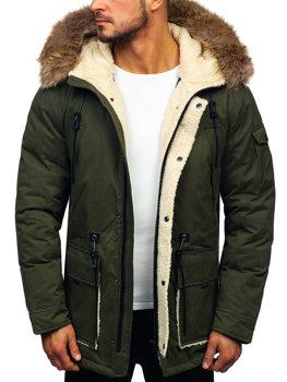 Khaki pánska zimná bunda parka Bolf  1099