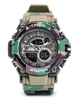 Khaki pánske hodinky s maskáčovým vzorom Bolf 3258