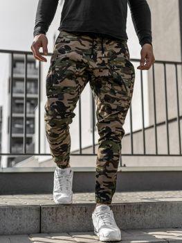 Khaki pánske jogger nohavice Bolf 0956