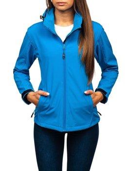 Modrá dámska softshellová prechodná bunda BOLF AB056