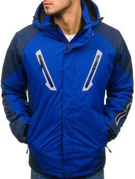 Modrá pánska lyžiarska zimná bunda BOLF F809