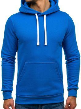 Modrá pánska mikina s kapucňou BOLF 02
