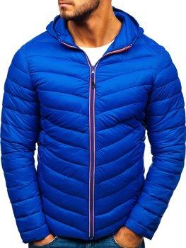 Modrá pánska športová prechodná bunda Bolf LY1016