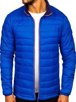 Modrá pánska športová prechodná bunda Bolf LY1017