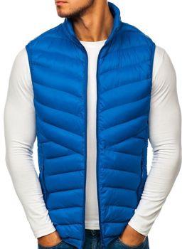Modrá pánska vesta bez kapucne BOLF SM21 74fd2a3f2fd