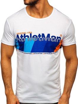 Modré pánske tričko s potlačou Bolf SS10905