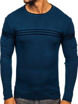 Modrý pánsky sveter Bolf 0001
