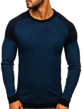 Modrý pánsky sveter Bolf 0004