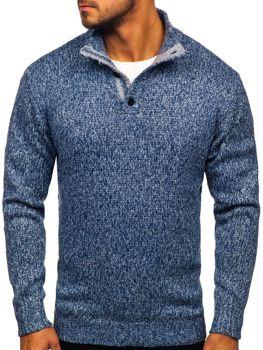 Modrý pánsky sveter Bolf P086