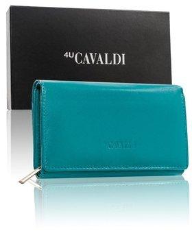 Morská modrá dámska kožená peňaženka 9535