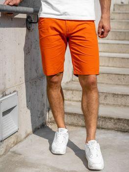 Oranžové pánske šortky Bolf 1140