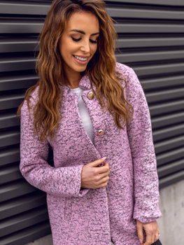 Ružový dámsky kabát BOLF 6011-1