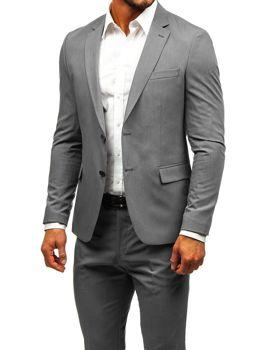 Šedý pánsky oblek BOLF 19200