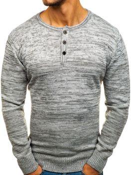 Šedý pánsky sveter BOLF H1821
