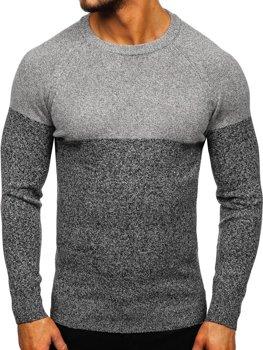 Šedý pánsky sveter Bolf H1809