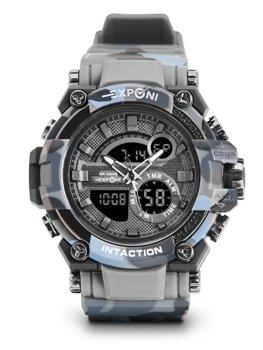 Sivé pánske hodinky s maskáčovým vzorom Bolf 3258