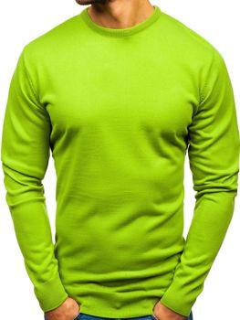 1f7012ed8619 Svetlozelený pánsky sveter BOLF 201