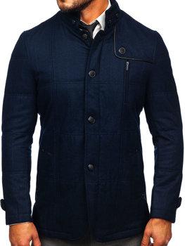 Tmavmodrý pánsky kabát BOLF EX66A