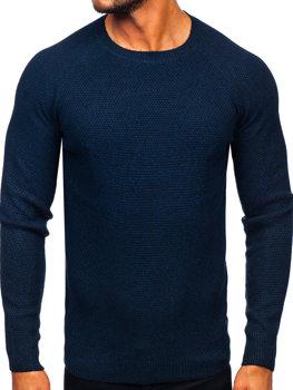 Tmavmodrý pánsky sveter BOLF H1810