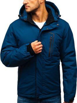 Tmavomodrá pánska lyžiarska zimná bunda BOLF HZ8107