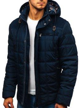 Tmavomodrá pánska zimná bunda BOLF 1820