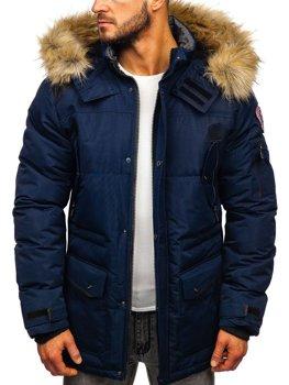 Tmavomodrá pánska zimná bunda Bolf  5948