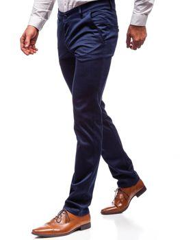 Tmavomodré pánske spoločenské nohavice BOLF 7623