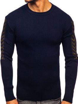 Tmavomodrý pánsky sveter Bolf 360