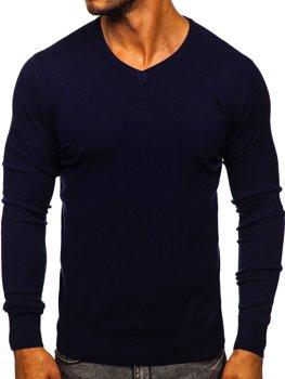 Tmavomodrý pánsky sveter s Včkom Bolf YY03