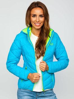 Tyrkysová dámska zimná bunda Bolf AB027