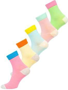 Viacfarebné dámske ponožky Bolf X20328-5P 5 PACK