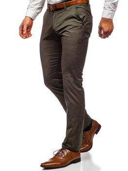 Zelené pánske chinos nohavice Bolf KA1786P