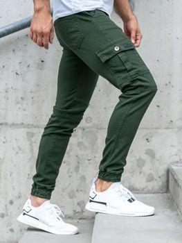 Zelené pánske jogger nohavice BOLF 2039-1